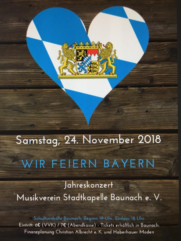 24.11.2018 Wir feier Bayern
